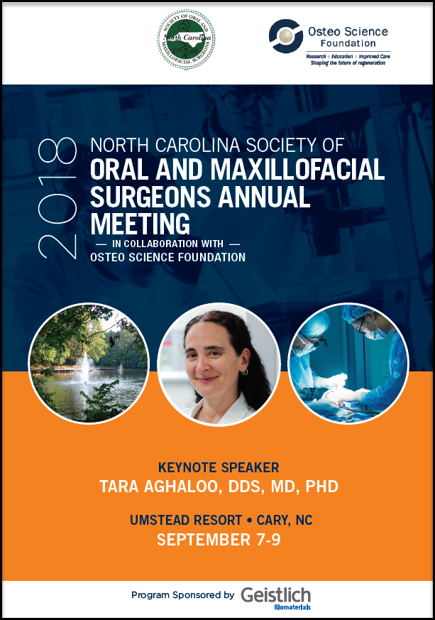 Front page of brochure for the North Carolina meeting event