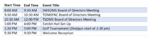 Southwest Society of Oral and Maxillofacial Surgeons Collaborative Meeting Schedule of Events Day 1