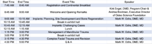 CSOMS Updated Schedule of Events